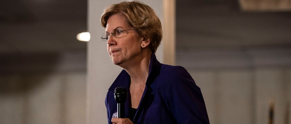 Democratic presidential candidate Sen. Elizabeth Warren speaks to members of the SEA/SEIU Local 1984 union on Nov. 13, 2019 in Concord, New Hampshire. (Photo by Sarah Rice/Getty Images)