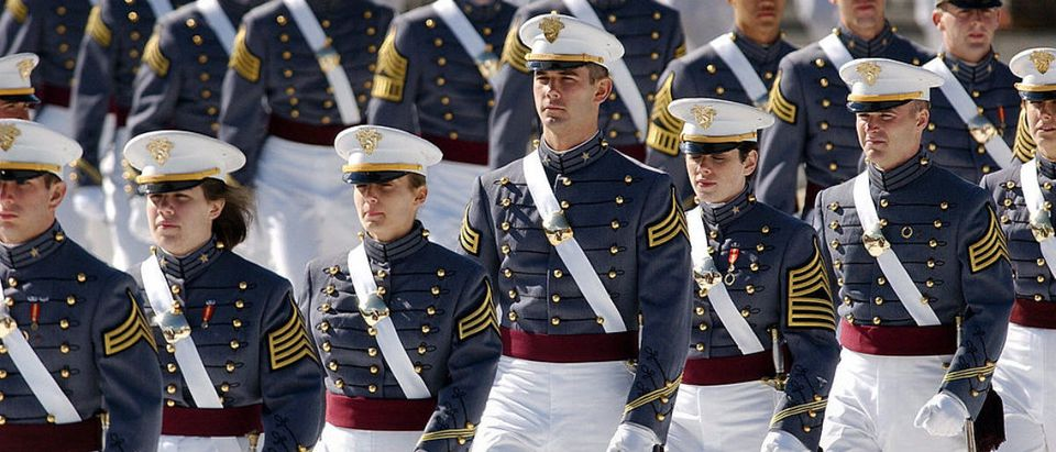 Cadets from the US Military Academy clas
