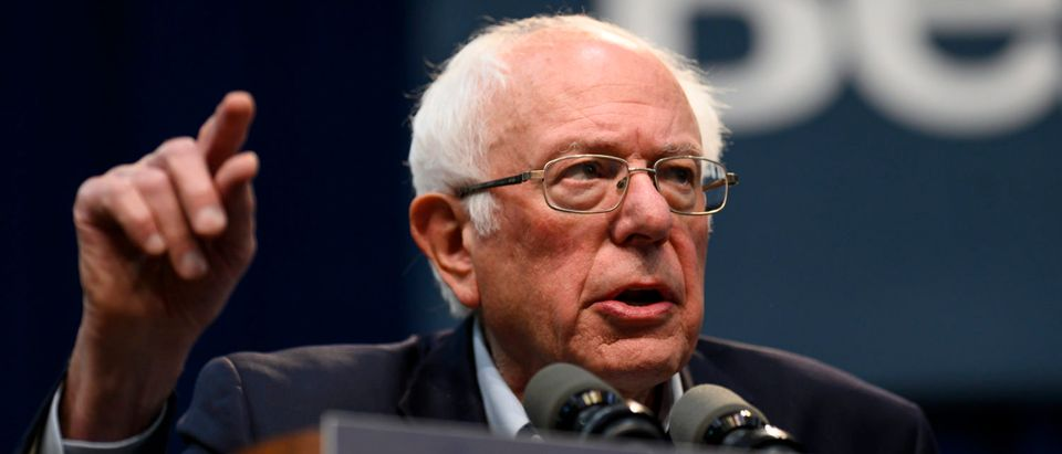 Democratic Presidential candidate Bernie Sanders (I-VT) speaks during the Climate Crisis Summit at Drake University on November 9, 2019 in Des Moines, Iowa. Sanders spoke about the current state of climate change in relation to U.S. policy. (Photo by Stephen Maturen/Getty Images)