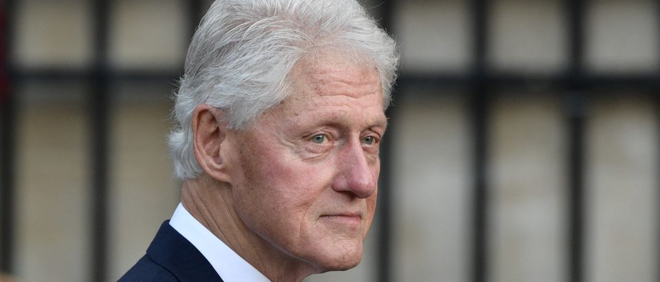 Former U.S. President Bill Clinton arrives to attend a church service for former French President Jacques Chirac at the Saint-Sulpice church in Paris on Sept. 30, 2019. (Photo by MARTIN BUREAU/AFP via Getty Images)