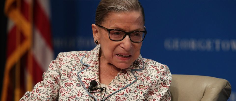 Supreme Court Justice Ruth Bader Ginsburg Attends Discussion At Georgetown Law