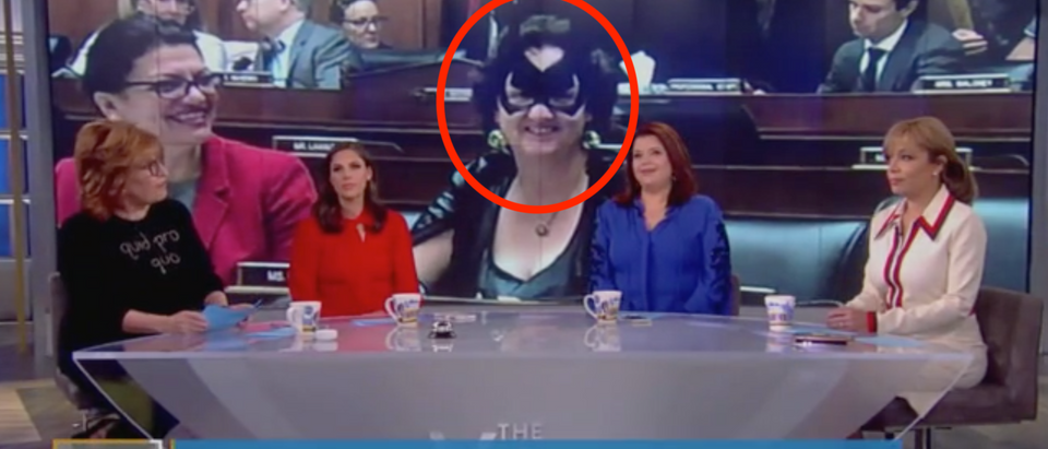 """The View"" discusses Halloween costumes on the House floor. Screen Shot/ABC"