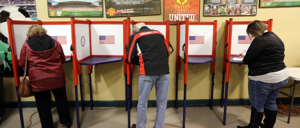 Residents cast votes at Mockingbird Valley Soccer Club November 5, 2019 in Louisville, Kentucky. (John Sommers II/Getty Images)