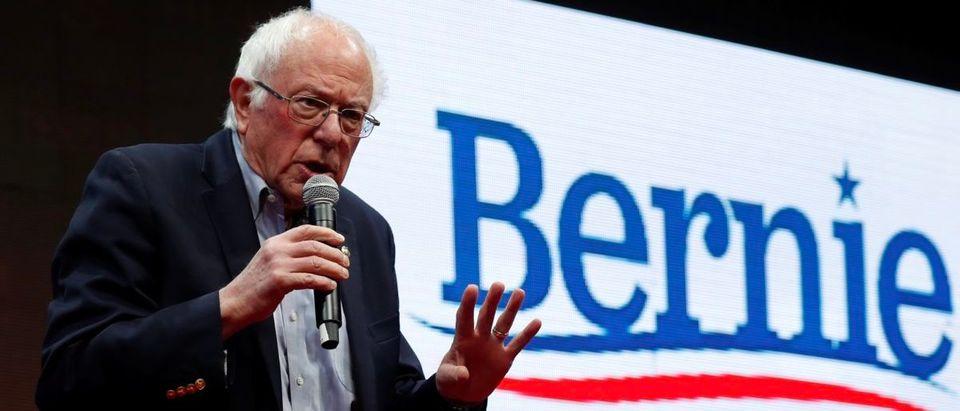 Democratic 2020 U.S. presidential candidate and U.S. Senator Bernie Sanders speaks during the Teamsters Vote 2020 Presidential Forum in Cedar Rapids, Iowa