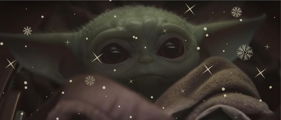 Baby Yoda at Christmas (Youtube/The Things)