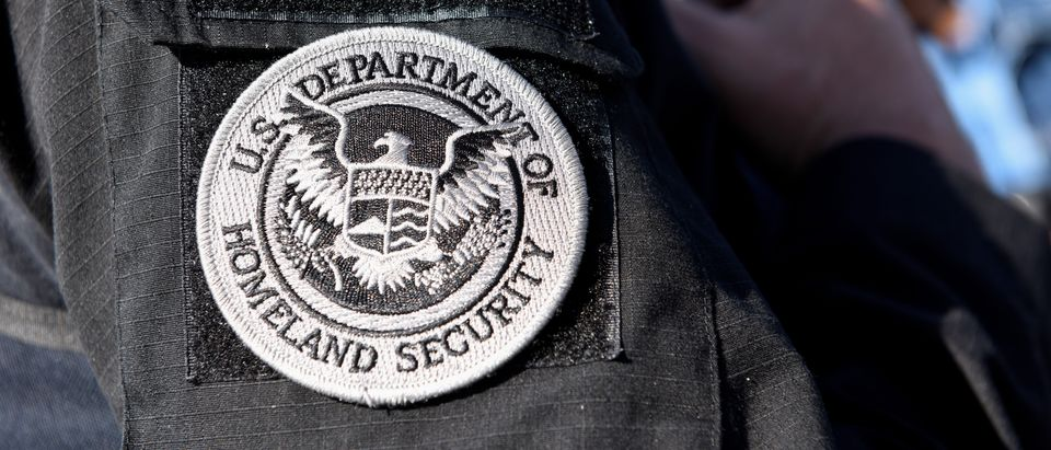 A member of ICE and ERO Fugitive Operations teams is pictured during an operation in San Jose