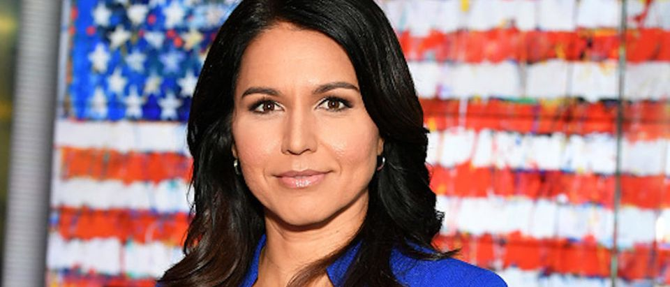 EXCLUSIVE COVERAGE) Democratic Presidential Candidate Tulsi Gabbard visits FOX & Friends at Fox News Channel Studios on September 24, 2019 in New York City