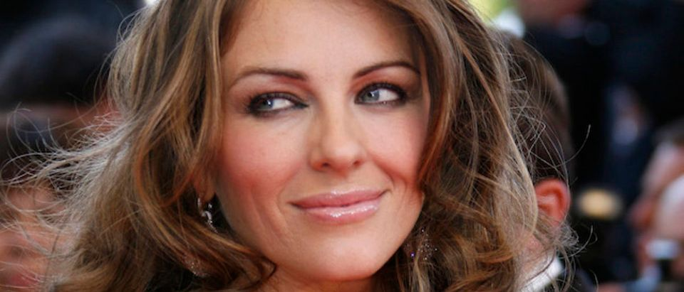 British actress Liz Hurley arrives for screening at the 60th Cannes Film Festival