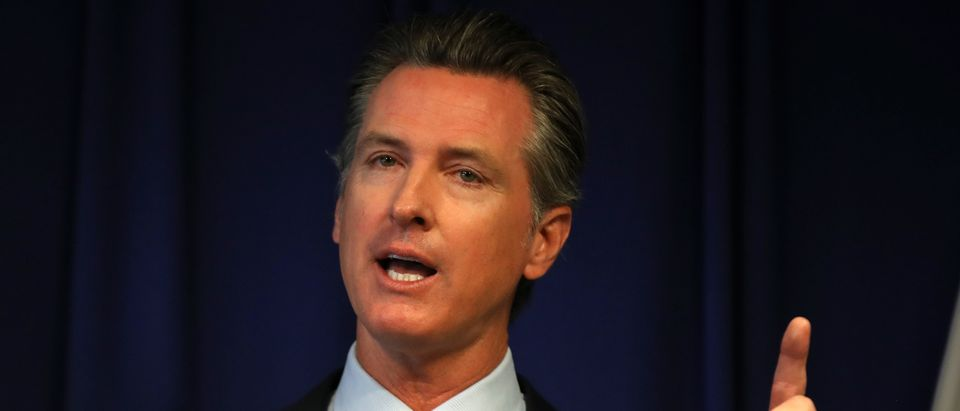 California Gov. Gavin Newsom speaks during a news conference at the California justice department on September 18, 2019 in Sacramento, California. (Justin Sullivan/Getty Images)