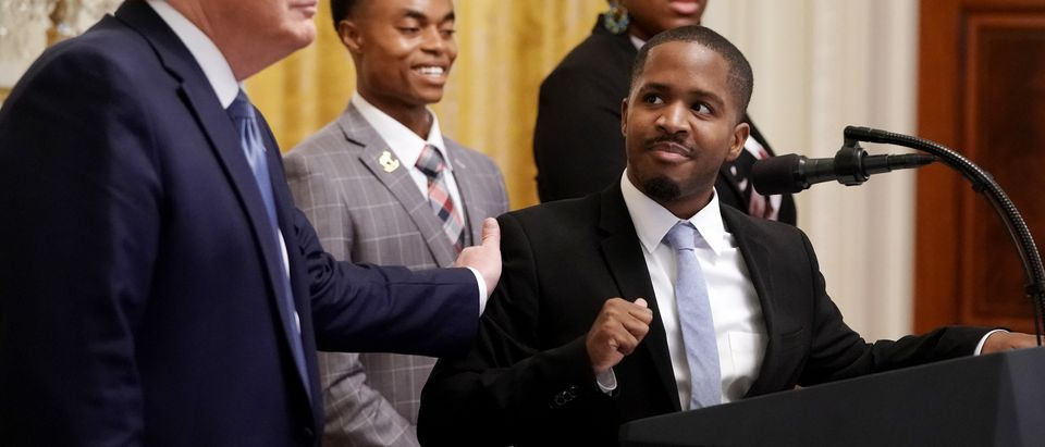 President Trump Addresses Young Black Leadership Summit At The White House