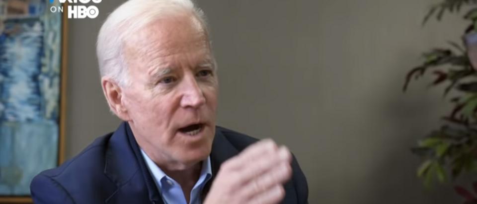 Joe Biden responds to Axios report on Hunter (HBO screengrab)