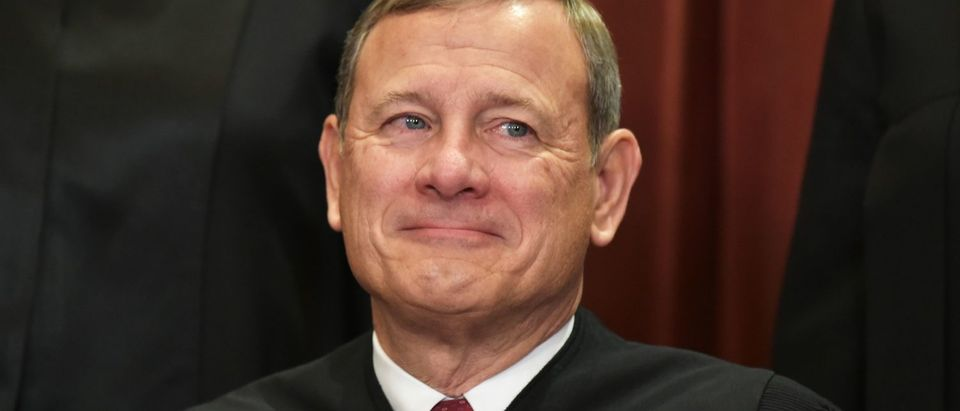 Chief Justice John Roberts is at the Supreme Court on Nov. 30, 2018. (Mandel Ngan/AFP/Getty Images)