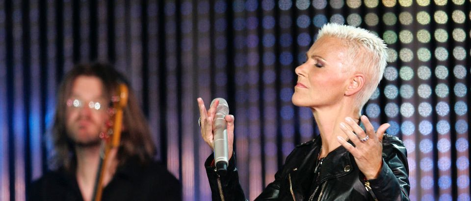 Marie Fredriksson of Swedish pop duo Roxette performs as an invited guest during the opening show of the international song contest New Wave in Jurmala July 28, 2009. REUTERS/Ints Kalnins