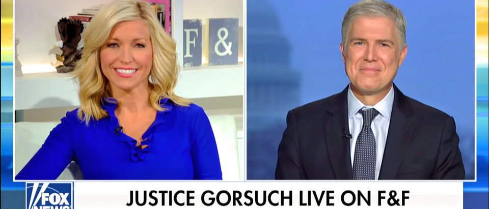 Supreme Court Justice Neil Gorsuch speaks to Fox and Friends on Dec. 17, 2019. (YouTube screenshot/Fox News)