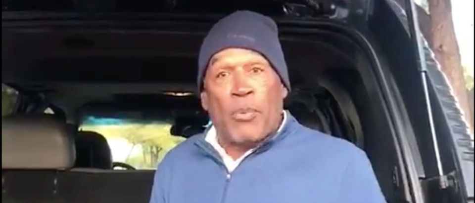 O.J. Simpson (Credit: Screenshot/Twitter video https://twitter.com/therealoj32/status/1201655295887298560?s=21)