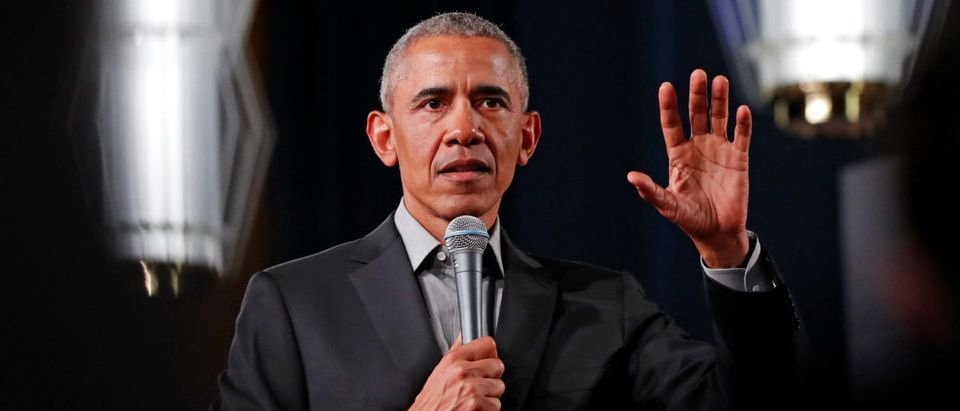 Former U.S. President Barack Obama addresses young leaders in Berlin