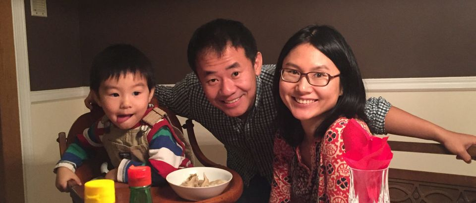 Princeton University graduate student Xiyue Wang in family photo