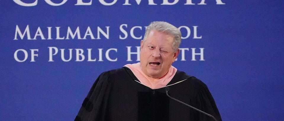 Former U.S. Vice President Al Gore speaks during commencement at the Mailman School of Public Health at Columbia University in the Manhattan borough of New York