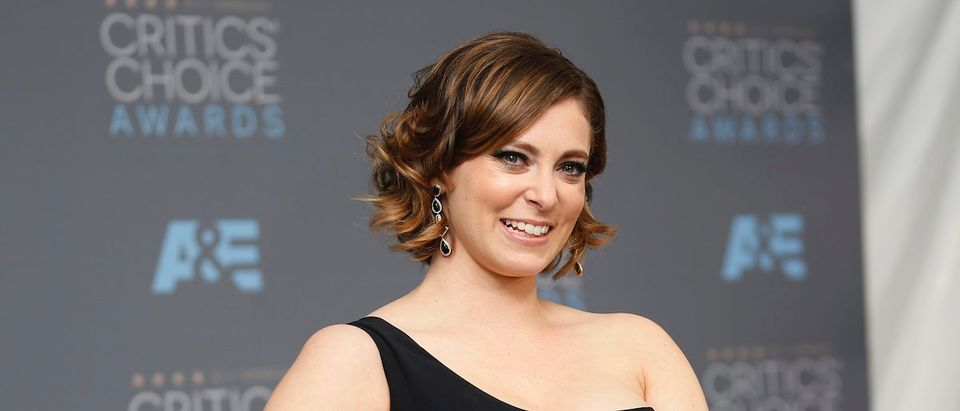 """Actress Rachel Bloom poses backstage with the award for Best Actress in a Comedy Series for """"Crazy Ex-Girlfriend"""" at the 21st Annual Critics' Choice Awards in Santa Monica, California January 17, 2016. REUTERS/Danny Moloshok"""