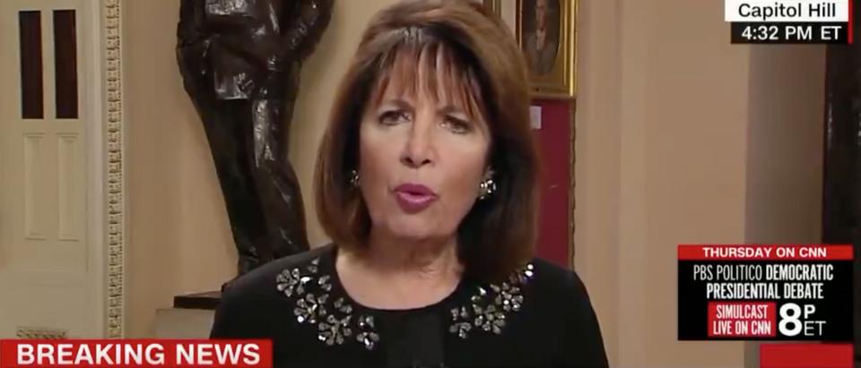 "Democratic California Rep. Jackie Speier appears on ""The Lead."" Screen Shot/CNN"