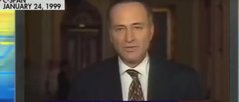 Flashback: Chuck Schumer Consulted With Clinton White House Ahead Of Impeachment Trial