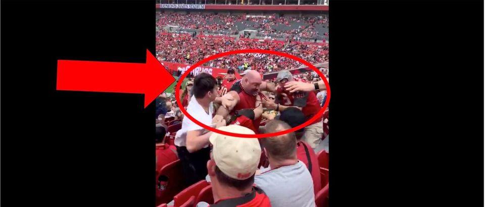 Texans, Bucs fight (Credit: Screenshot/Twitter video https://twitter.com/bustedcoverage/status/1208740515476320256)