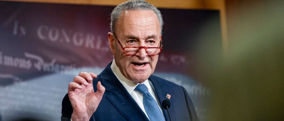 Senate Minority Leader Chuck Schumer is pictured. (Samuel Corum/Getty Images)