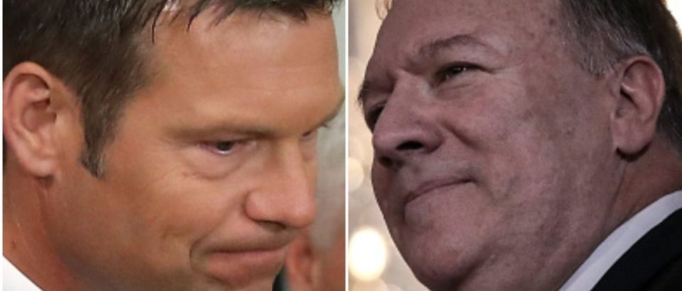 Kris Kobach and Mike Pompeo