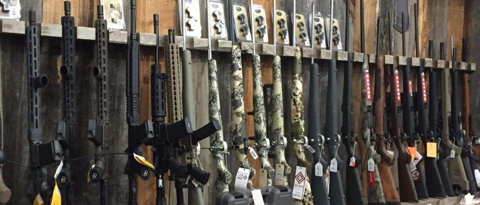 Gun rack. (Shutterstock/Jim Whitney)
