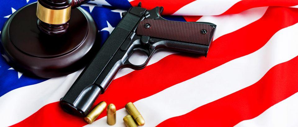 Gavel and Handgun (Shutterstock)
