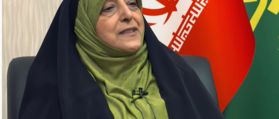 Masoumeh Ebtekar in an interview with TRT, June 24, 2019. (Youtube screen grab/TRT)