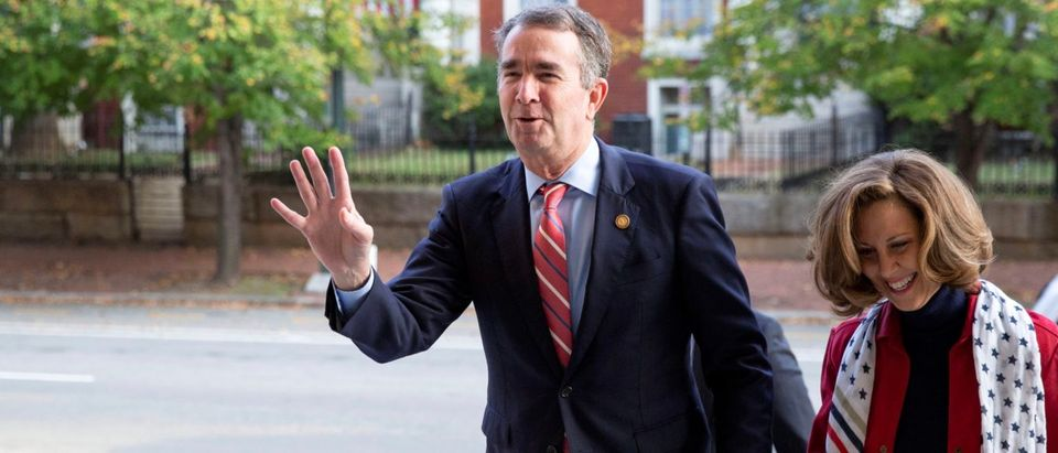 Virginia's Governor Ralph Northam votes in state and local elections in Richmond