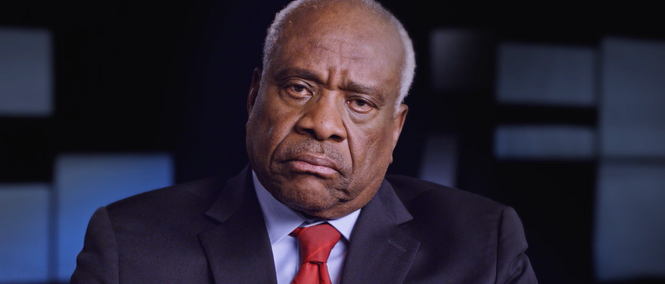 Justice Clarence Thomas in the forthcoming documentary film 'Created Equal: Clarence Thomas in His Own Words' (Screenshot/Manifold Productions Inc.)
