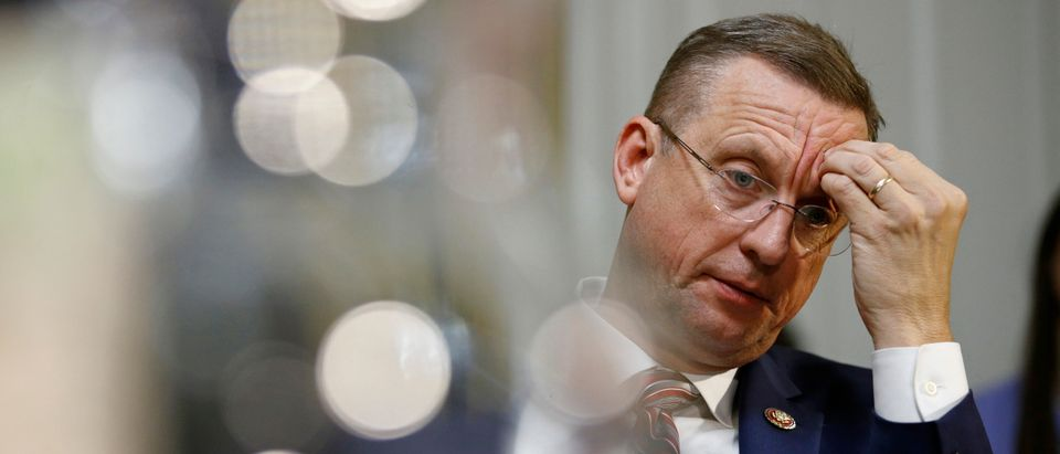 House Judiciary Committee ranking member Rep. Doug Collins listens during a House Rules Committee hearing on the impeachment against President Donald Trump, Dec. 17, 2019, on Capitol Hill in Washington, D.C. (Photo by PATRICK SEMANSKY/POOL/AFP via Getty Images)