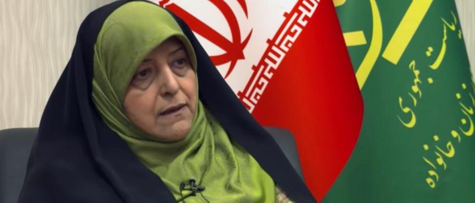 Masoumeh Ebtekar in an interview with TRT, June 24, 2019. (Youtube screen grab/TRT)