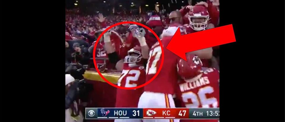 Eric Fisher (Credit: Screenshot/Twitter Video https://twitter.com/geoffschwartz/status/1216492750482411520)