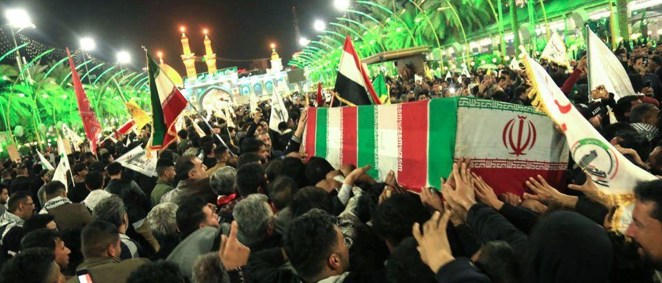 TOPSHOT-IRAQ-IRAN-US-POLITICS-UNREST-FUNERAL