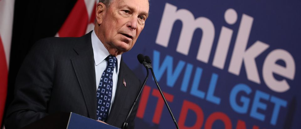 Democratic presidential candidate, former New York City Mayor Michael Bloomberg speaks about affordable housing during a campaign event where he received an endorsement from District of Columbia Mayor, Muriel Bowser, on Jan. 30, 2020 in Washington, D.C. (Photo by Mark Wilson/Getty Images)