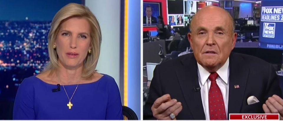 Rudy Giuliani appears on Fox News, Jan. 20, 2020. (YouTube screen capture/Fox News)