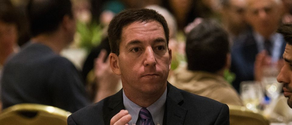 Investigative reporter Glenn Greenwald, who worked with National Security Agency leaker Edward Snowden, attends the George Polk Award along side Laura Poitras, Ewan MacAskill and Barton Gellman, for National Security Reporting on April 11, 2014 in New York City. (Photo by Andrew Burton/Getty Images)