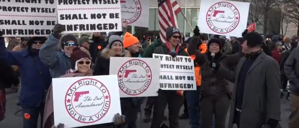 Gun owners expressed their support for the Second Amendment during a rally Monday in Richmond, Virginia. Photo: the DCNF
