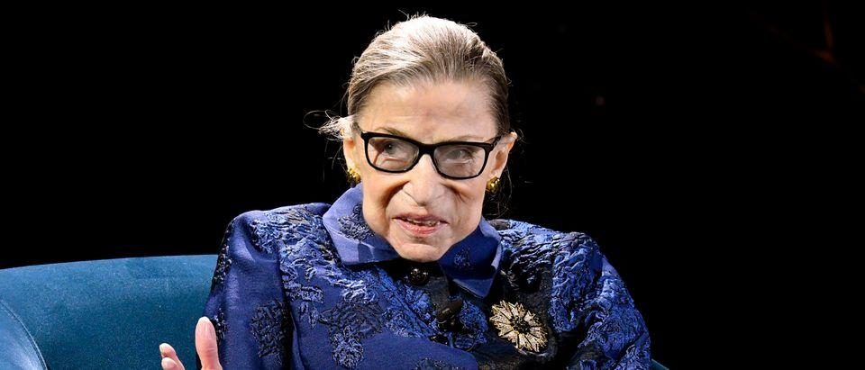 Justice Ruth Bader Ginsburg speaks onstage at the Berggruen Prize Gala on Dec. 16, 2019. (Eugene Gologursky/Getty Images for Berggruen Institute )