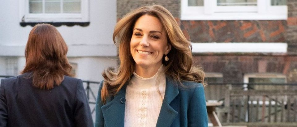 Britain's Catherine, Duchess of Cambridge, arrives at LEYF (London Early Years Foundation) Stockwell Gardens Nursery & Pre-school in London, Britain January 29, 2020. Phil Harris/Pool via REUTERS