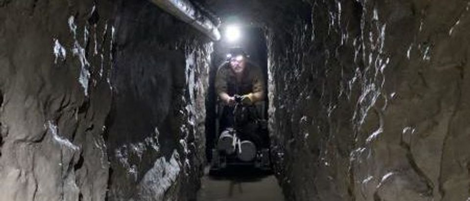 The longest border smuggling tunnel discovered along U.S.-Mexico border is pictured. (Credit: Customs and Border Protection)