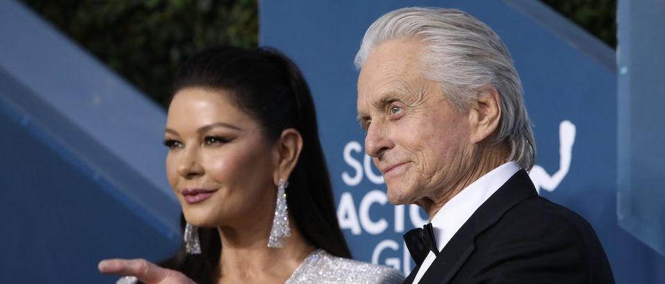 26th Screen Actors Guild Awards Arrivals Los Angeles, California, U.S., January 19, 2020 Catherine Zeta Jones and Michael Douglas. REUTERS/Monica Almeida