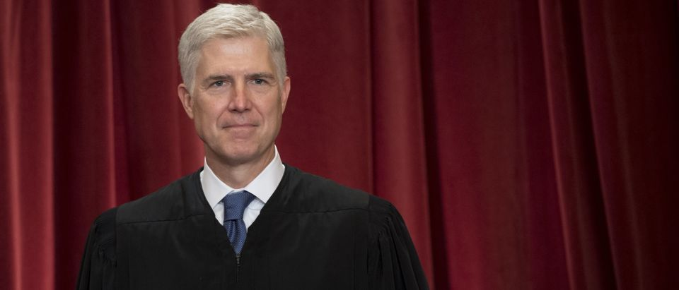 Justice Neil Gorsuch at the Supreme Court on June 1, 2017. (Saul Loeb/AFP/Getty Images)