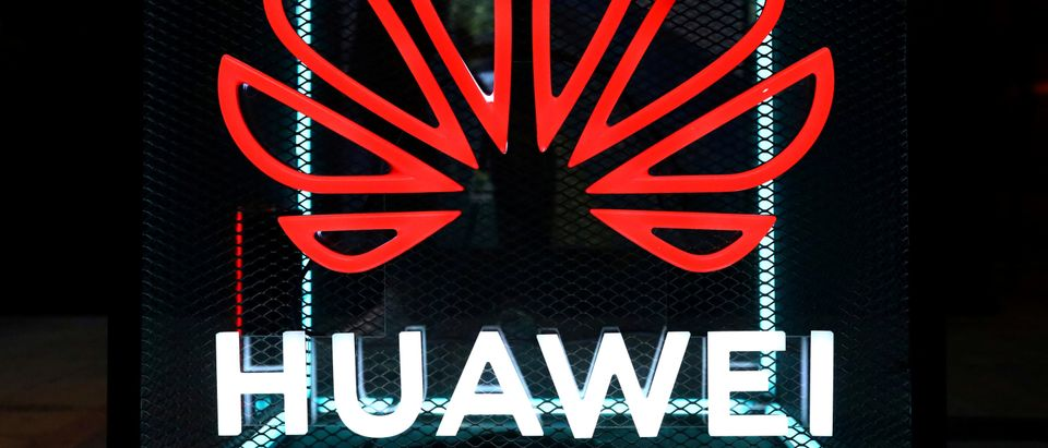 The Huawei logo is pictured at the IFA consumer tech fair in Berlin, Germany, Sept. 5, 2019. REUTERS/Hannibal Hanschke/File Photo
