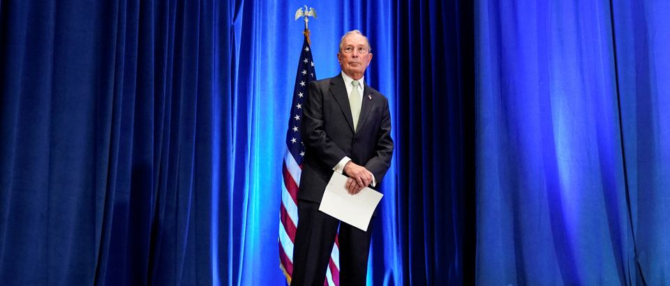 Democratic U.S. presidential candidate Michael Bloomberg waits to address a news conference after launching his presidential bid in Norfolk, Virginia, U.S., Nov. 25, 2019. REUTERS/Joshua Roberts