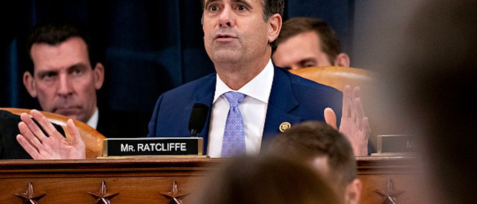 Rep. John Ratcliffe (R-TX) speaks during a House Judiciary Committee markup hearing on the Articles of Impeachment against President Donald Trump