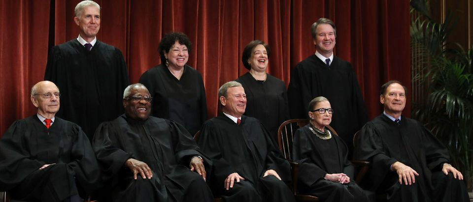 The justices of the Supreme Court on November 30, 2018. (Chip Somodevilla/Getty Images)